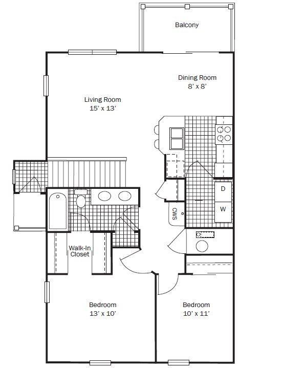 The Hampton Apartment for Rent at The Lakes of Olentangy - 396 ...