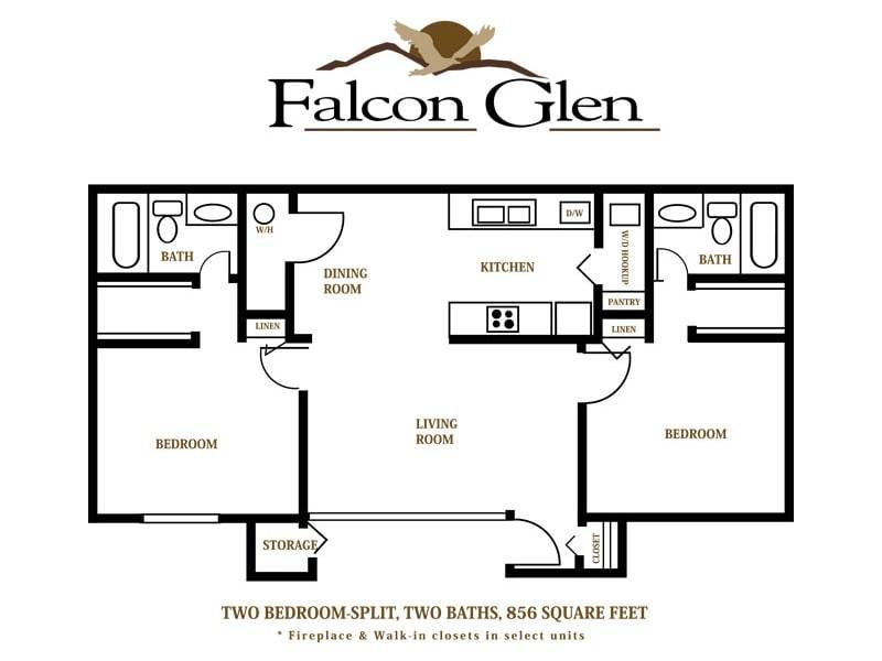 Falcon glen 4225 e university dr apartment for rent for 2 bedroom 2 bath garage apartment plans