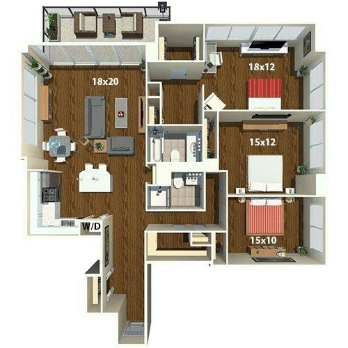 Wilton placed at 1815 john f kennedy blvd philadelphia the for 3 bedroom apartments philadelphia