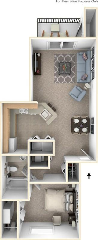 1 bedroom full size canal club apartments7715 - Canal Club Apartments
