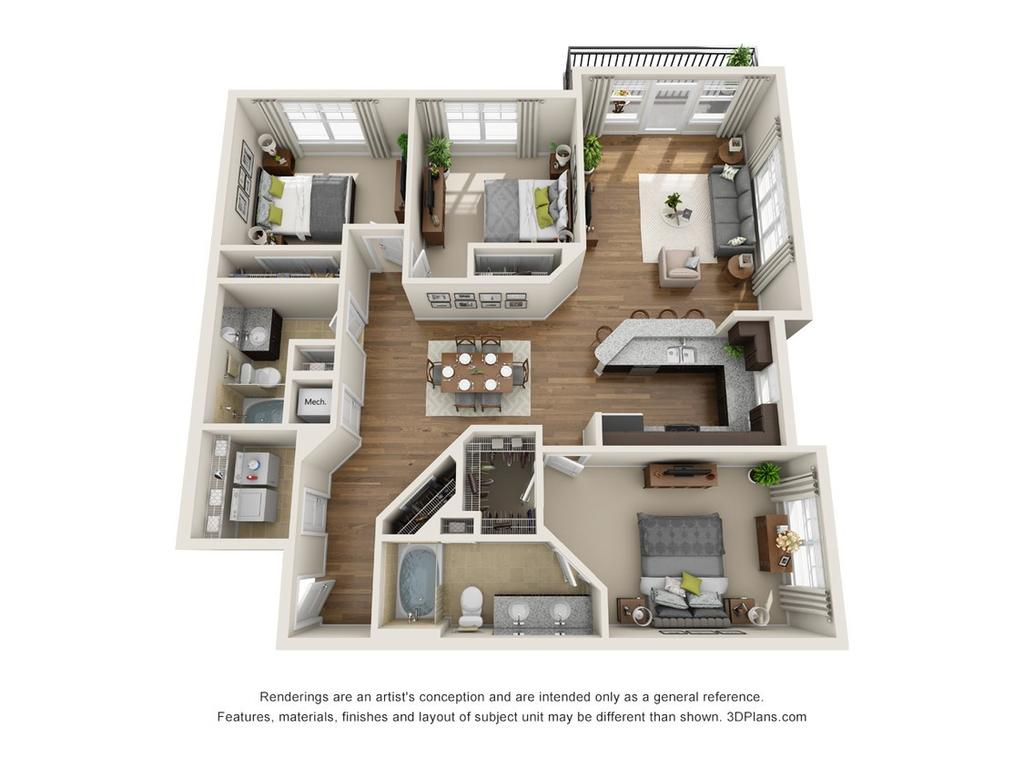 apartments for rent at meridian at sutton square, 700 spring falls