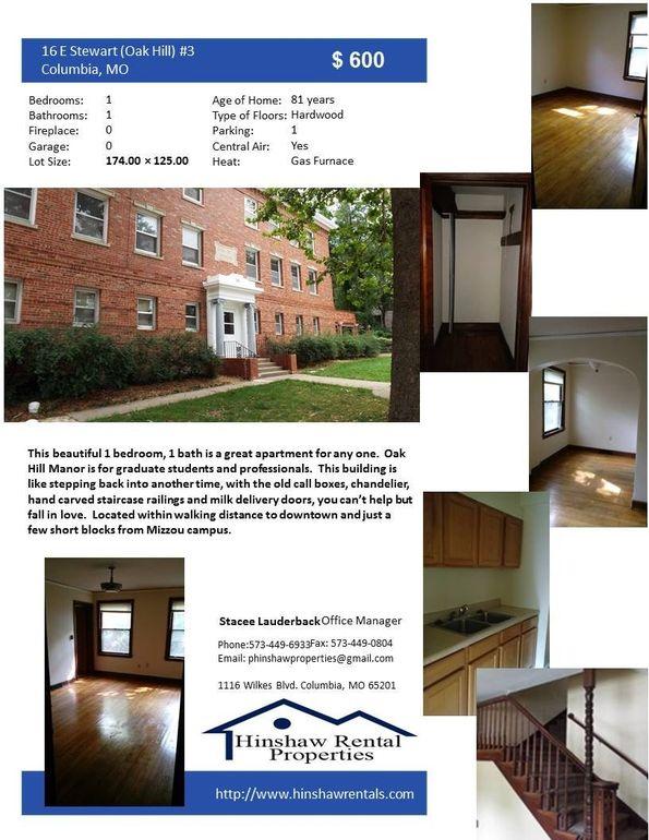 16 E Stewart Rd Apt 3, Columbia, MO 65203