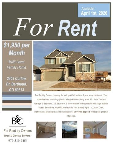Photo of 3402 Curlew Dr, Berthoud, CO 80513