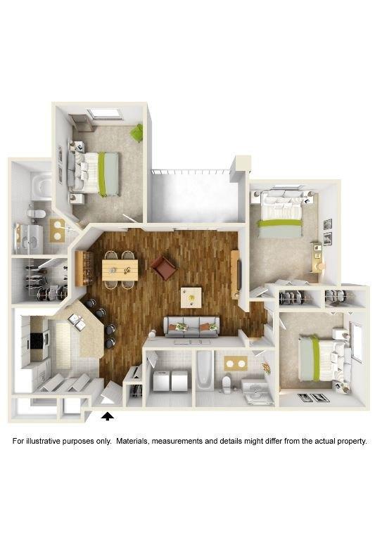 3 Bedroom 2 Bath Apartments For Rent In Orlando Fl Bedroom Review Design