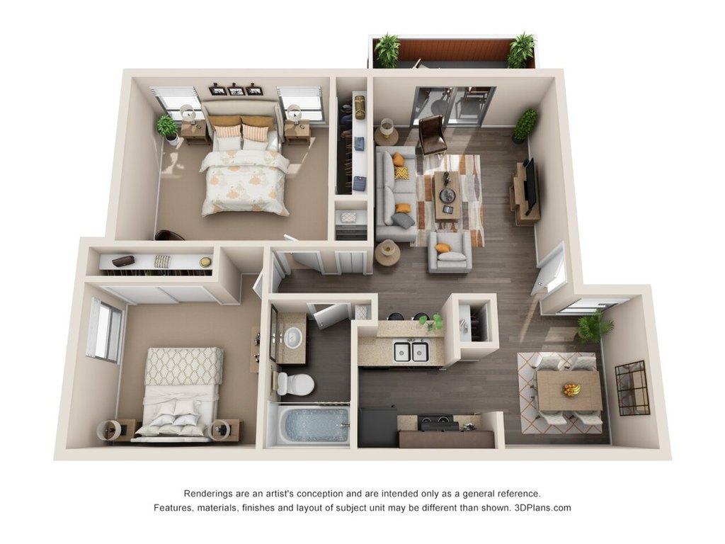 Two Bedroom B1 Apartment For Rent At Alamo Hillside 7626 Callaghan Rd San Antonio Tx