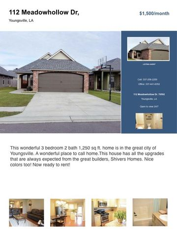 Photo of 112 Meadowhollow Dr, Youngsville, LA 70592